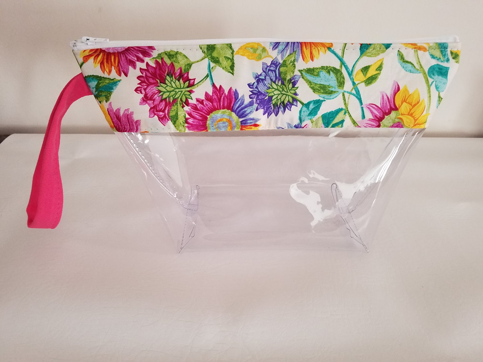 Cosmetic Bag Large Clear Vinyl